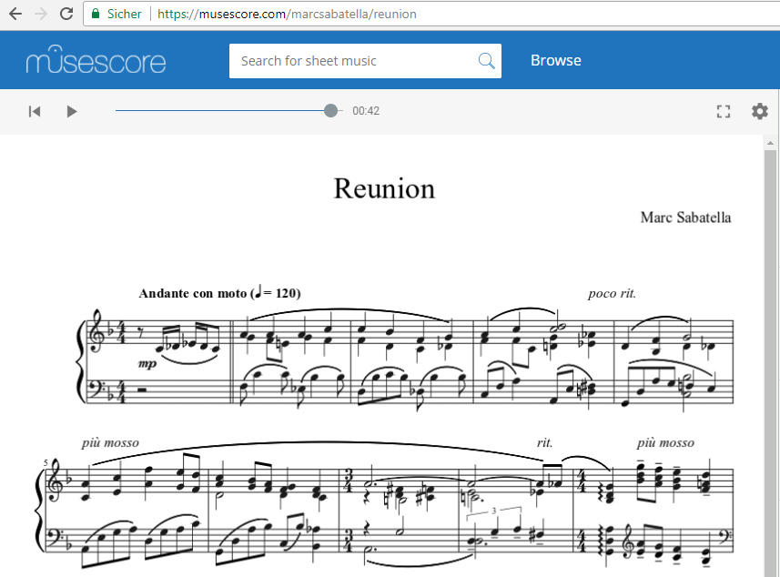 Example of MuseScore